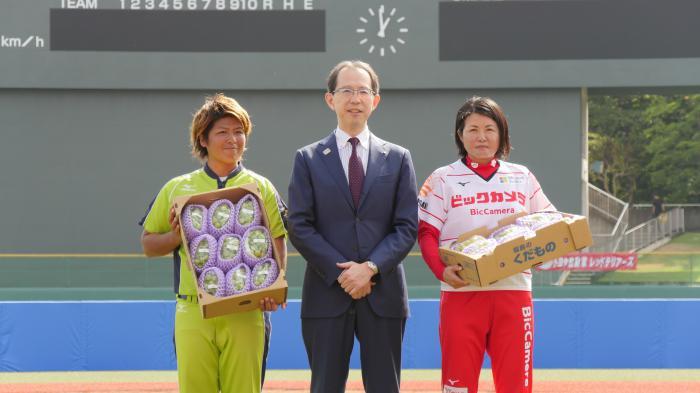 令和元年10月5日~6日 福島県福島市 「第52回 日本女子ソフトボールリーグ」。イベントの様子