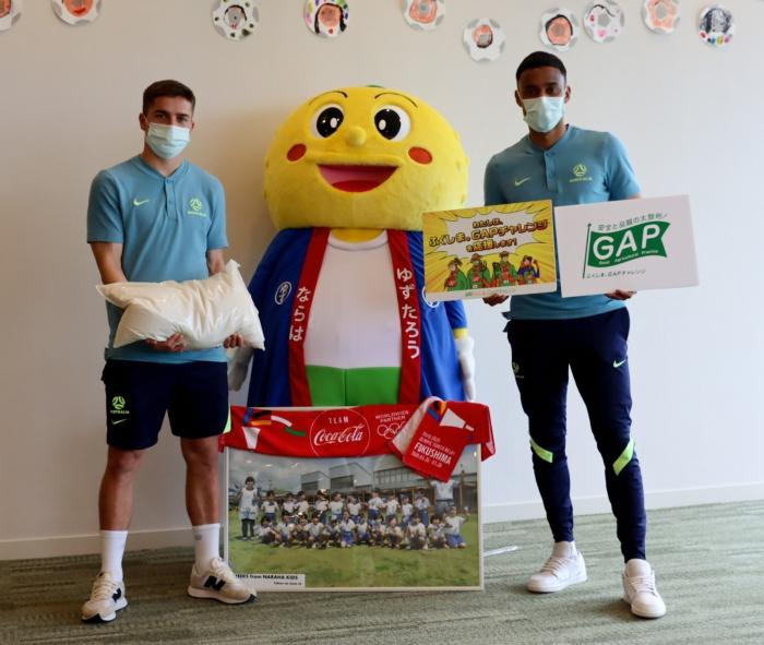 【イベント】オーストラリアサッカー男子代表合宿にてGAP認証農産物を贈呈しました